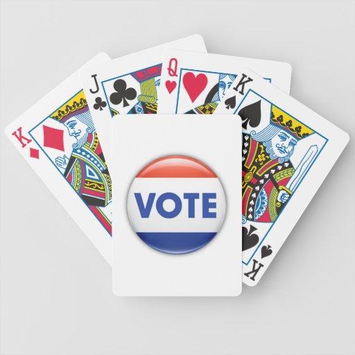 Botón del voto barajas