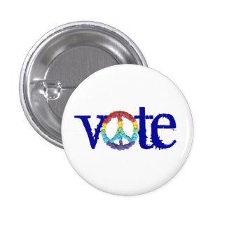 """Botón del """"voto"""" de los gráficos del Kat del karat Pin Redondo De 1 Pulgada"""