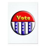 Botón del voto invitación 12,7 x 17,8 cm