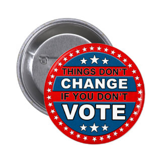 Botón del voto pin redondo de 2 pulgadas