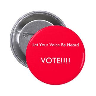 Botón del voto pins