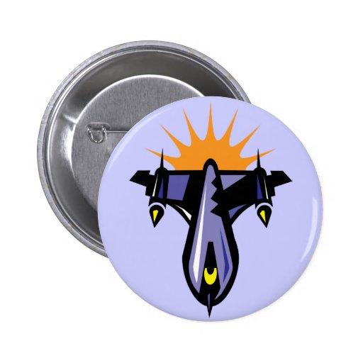 Botón del vuelo de la nave de Rocket de la fantasí