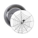 Botón del Web de araña Pin