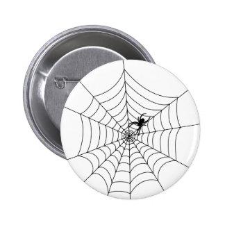 Botón del Web de araña Pin Redondo De 2 Pulgadas