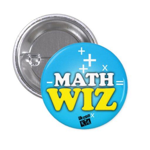 Botón del wiz de la matemáticas pins