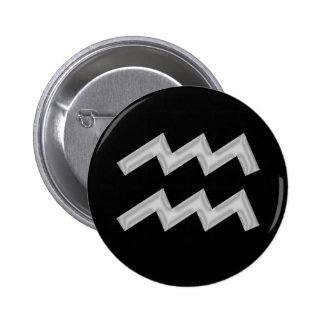 Botón del zodiaco del portador del agua del acuari pins