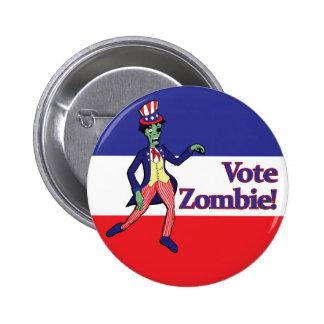 Botón del zombi del voto