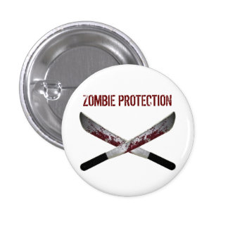 Botón del zombi pin redondo de 1 pulgada
