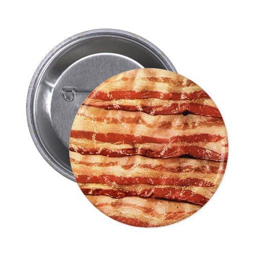 ¡Botón delicioso del TOCINO! Pin Redondo 5 Cm