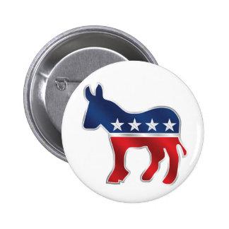 Botón Democratic del burro Pin Redondo De 2 Pulgadas