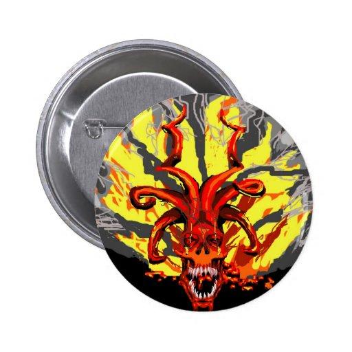 Botón demoníaco del cráneo pin