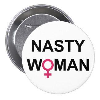 Botón desagradable de la mujer pin redondo de 3 pulgadas