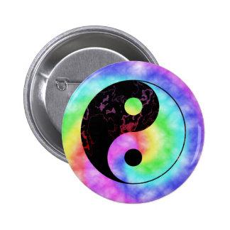 Botón descolorado de Yin Yang del arco iris Pin