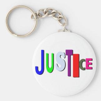 Botón desigual B de la justicia Llaveros