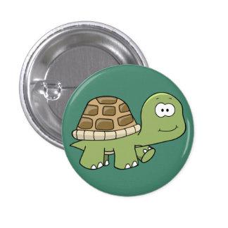 Botón despreocupado de la tortuga pin redondo de 1 pulgada