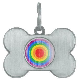 Botón distressed.png del orgullo gay placas de mascota