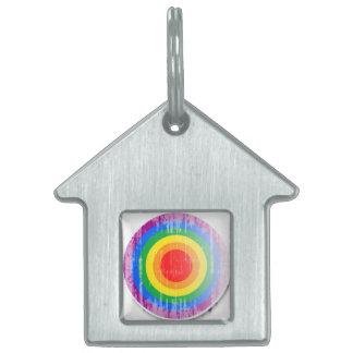 Botón distressed.png del orgullo gay placas de nombre de mascota