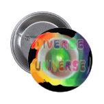Botón diverso del universo pin