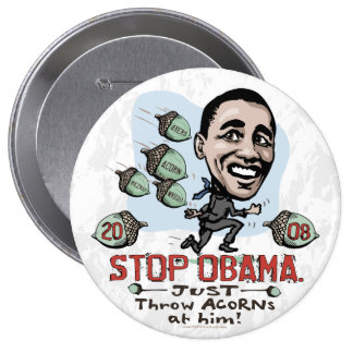 Botón divertido de Anti-Obama de la BELLOTA Pin