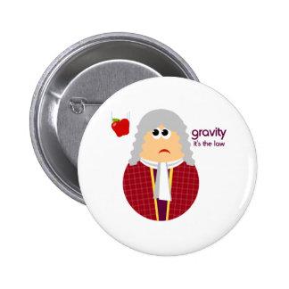 Botón divertido de Isaac Newton Pin