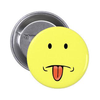 Botón divertido de la cara pin redondo de 2 pulgadas