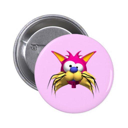 Botón divertido de la fiesta de cumpleaños del gat pin redondo de 2 pulgadas