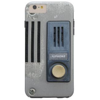 Botón divertido de la llamada del intercomunicador funda para iPhone 6 plus tough