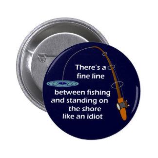 Botón divertido de la pesca