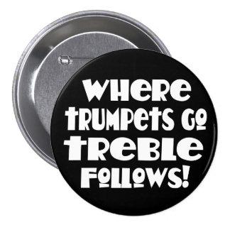 Botón divertido de la trompeta de la música pins