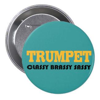 Botón divertido de la trompeta pin