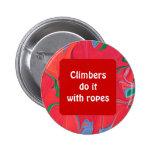 botón divertido de los escaladores pins