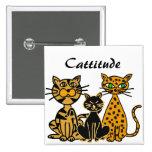 Botón divertido de los gatos de Cattitude del ANUN Pin