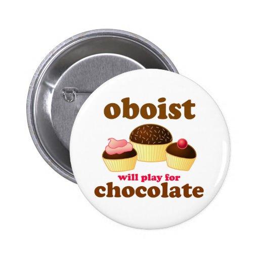 Botón divertido de Oboe de la música Pin Redondo De 2 Pulgadas
