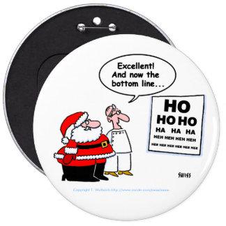 Botón divertido de Santa y del optometrista