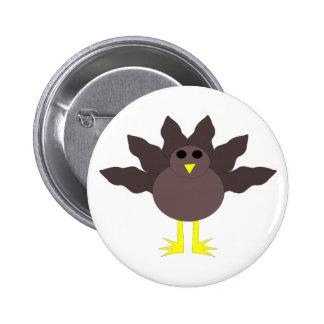 Botón divertido de Turquía de la acción de gracias Pin
