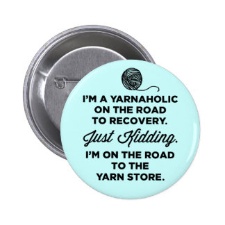 Botón divertido de Yarnaholic