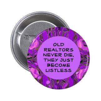 botón divertido del agente inmobiliario pins