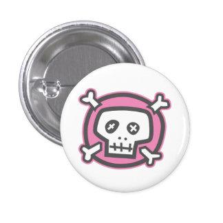 Botón divertido del cráneo (estilo gris) pin