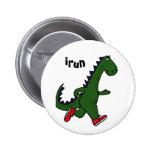 Botón divertido del dinosaurio del AU que activa