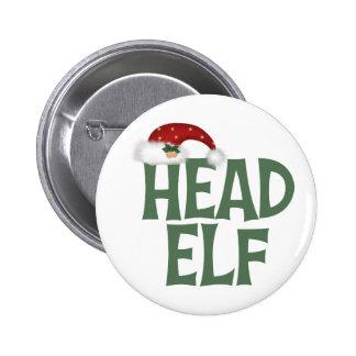 Botón divertido del duende del navidad pins
