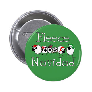 Botón divertido del navidad de Navidad del paño gr