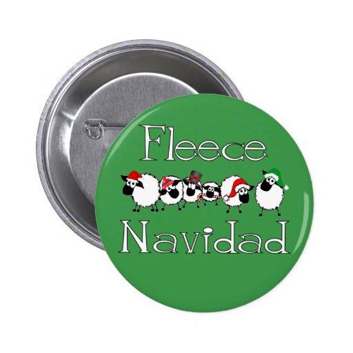 Botón divertido del navidad de Navidad del paño gr Pins