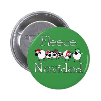Botón divertido del navidad de Navidad del paño gr Pin Redondo De 2 Pulgadas