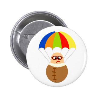 Botón divertido del paracaídas