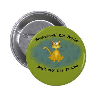 Botón divertido del pastor del gato