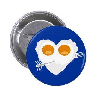 Botón divertido del personalizado del corazón del