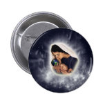 Botón divino del regalo pin
