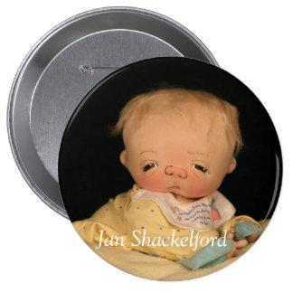 Botón DJ del bebé de enero Shackelford Pin
