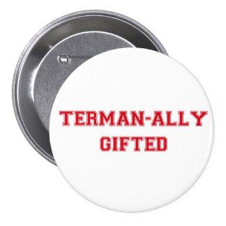 botón dotado del Terman-aliado Pin Redondo De 3 Pulgadas