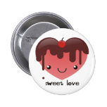 Botón dulce del amor pin